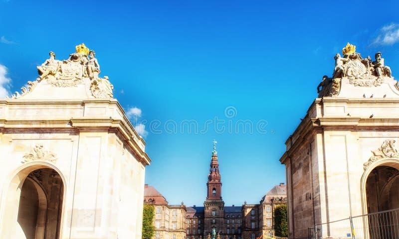 哥本哈根Folketing议会Christiansborg宫殿 库存图片