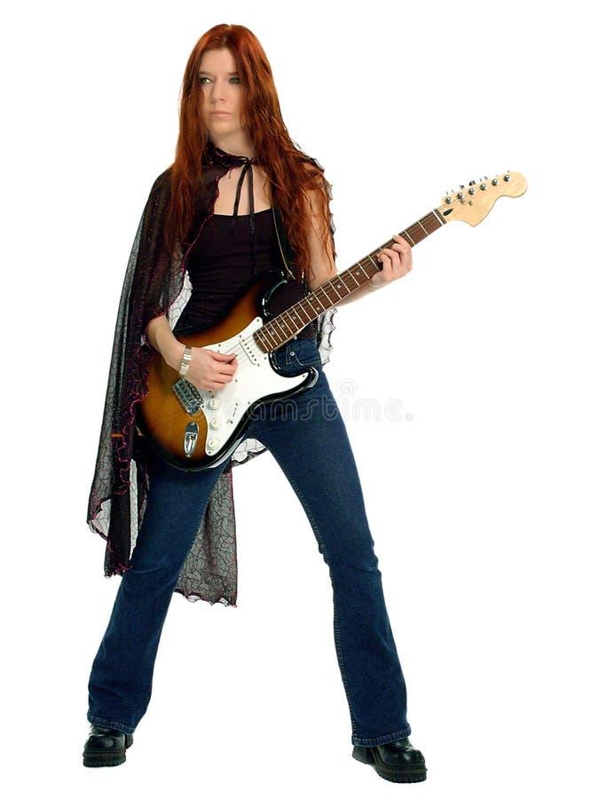 哥特式吉他弹奏者 免版税库存图片