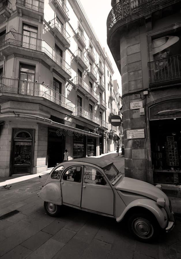 哥特式四分之一街道 库存照片
