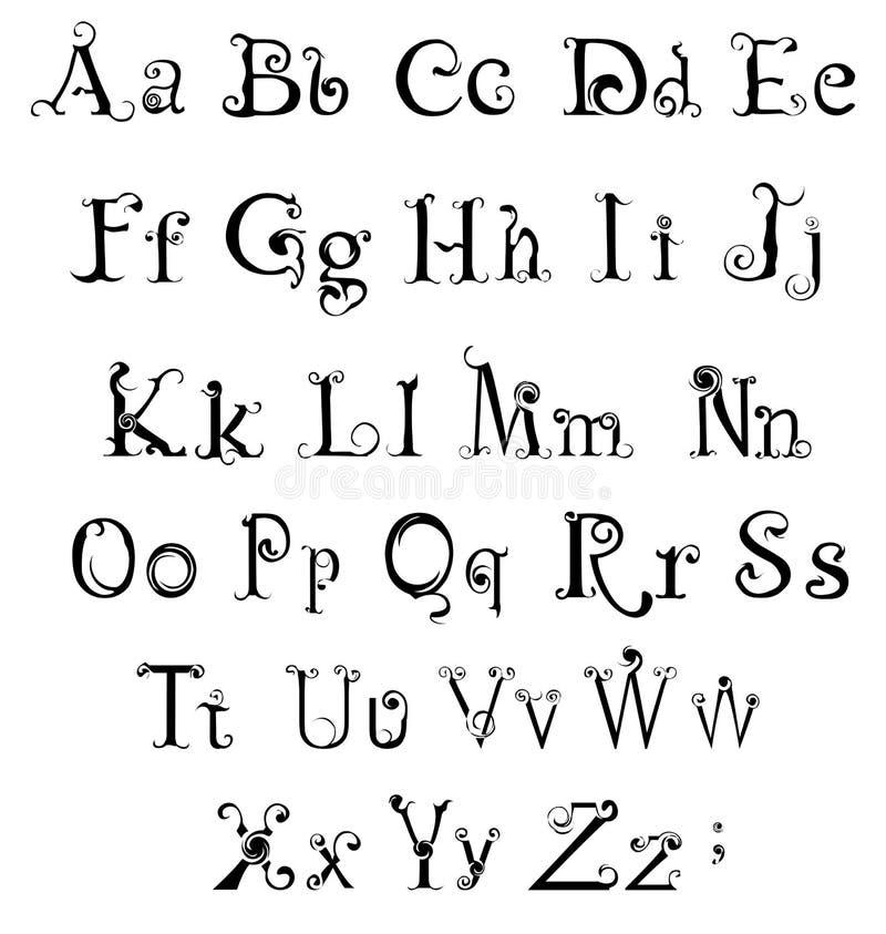 哥特式字母表 皇族释放例证