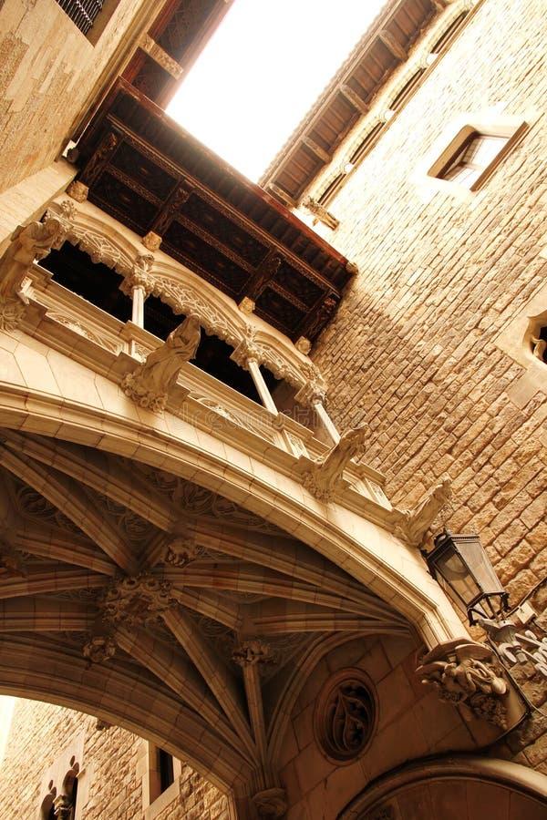 哥特式建筑在巴塞罗那 免版税图库摄影