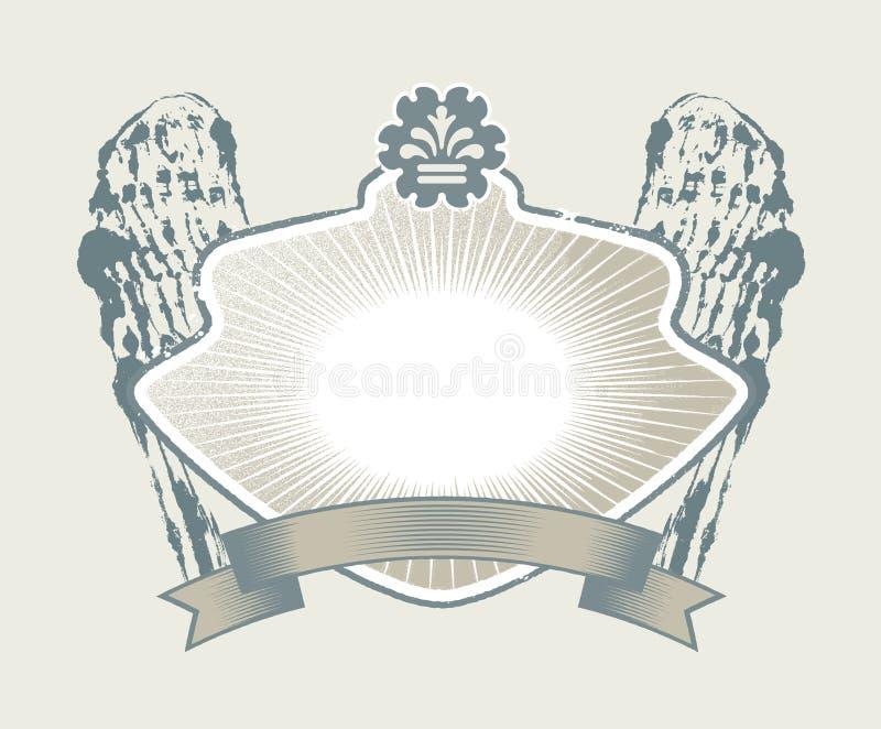 哥特式徽章 向量例证