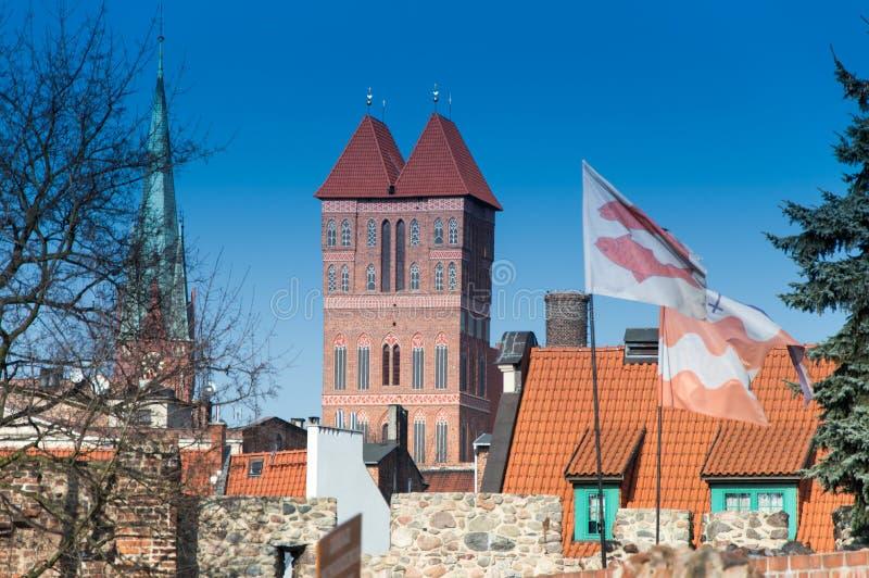 哥特式教会在托伦,波兰 免版税库存图片