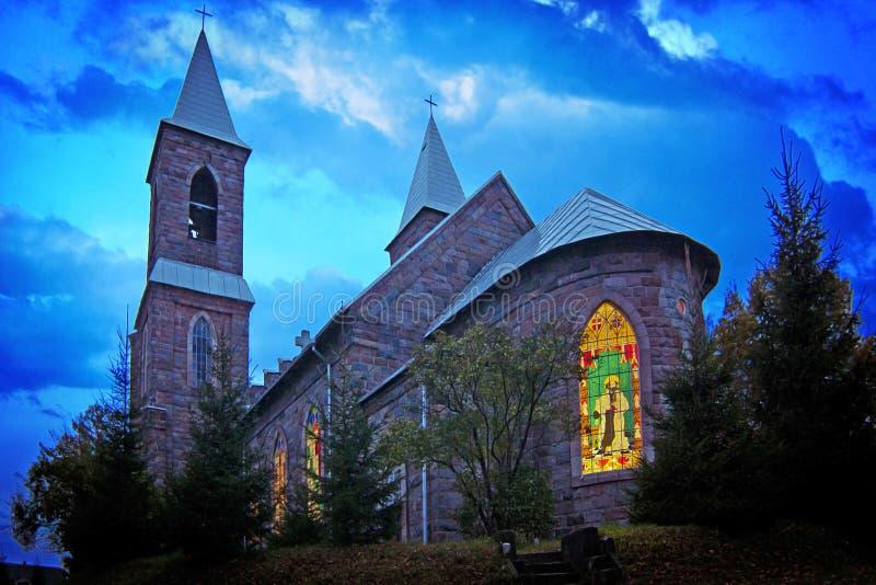 哥特式教会HDR 库存照片