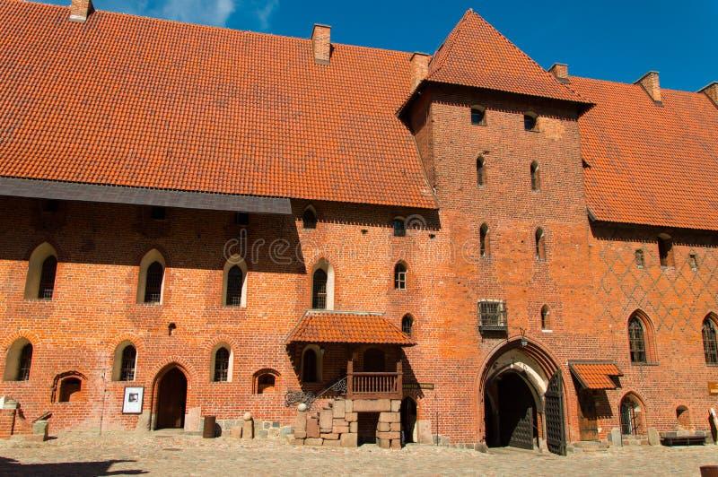 哥特式条顿人城堡在马尔堡,波兰 免版税库存图片