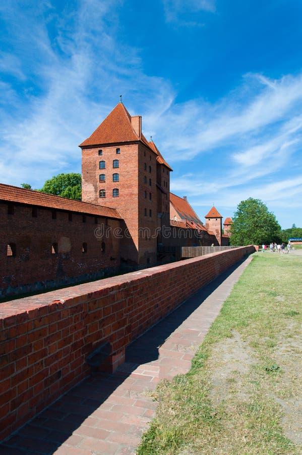 哥特式条顿人城堡在马尔堡,波兰 库存图片