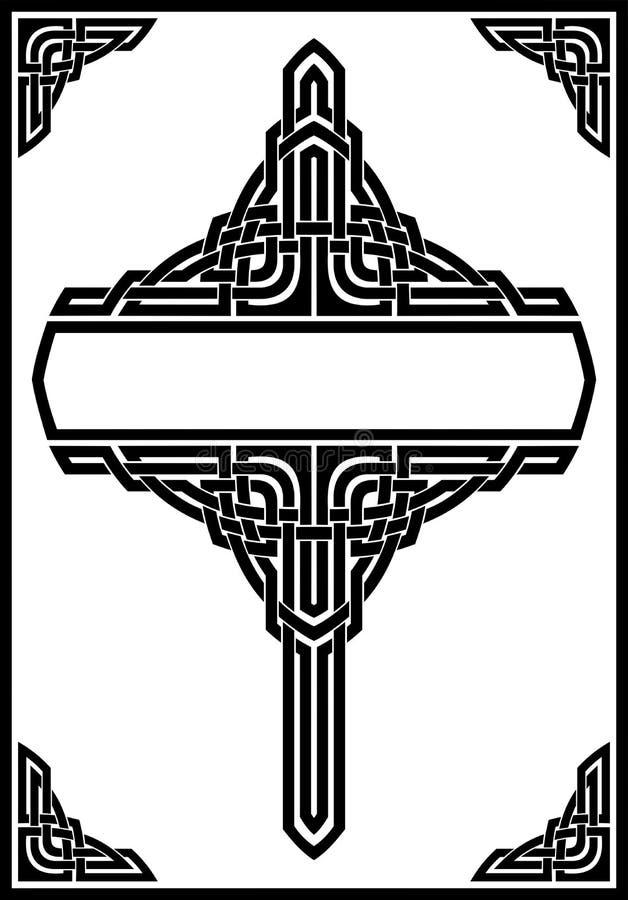 哥特式框架 皇族释放例证