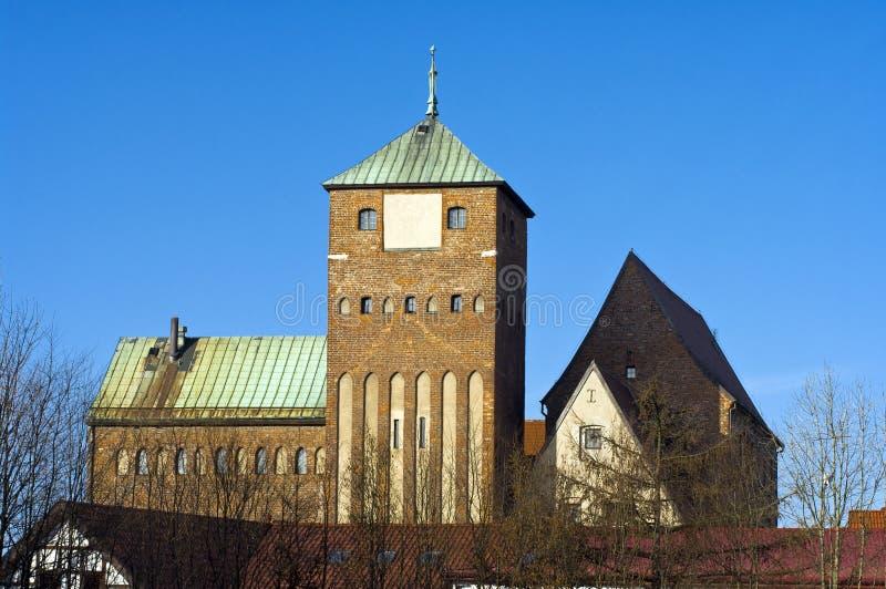 哥特式的城堡 免版税库存照片