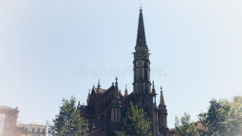 哥特式的大教堂 免版税库存照片