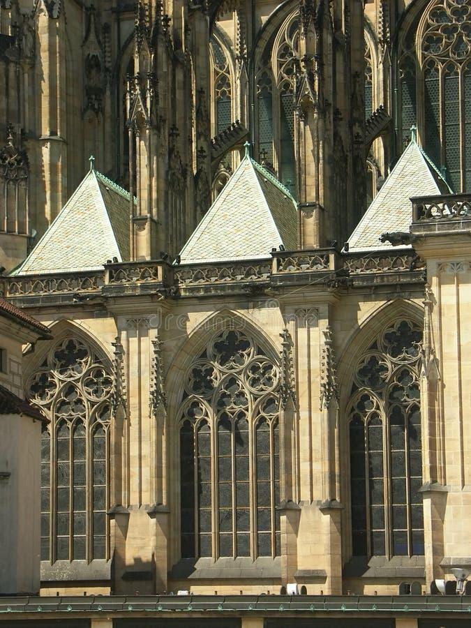 哥特式的大教堂 免版税库存图片
