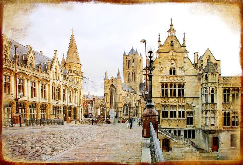 哥特式的比利时 库存图片