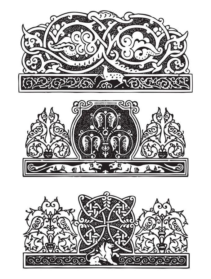 哥特式装饰品样式 向量例证