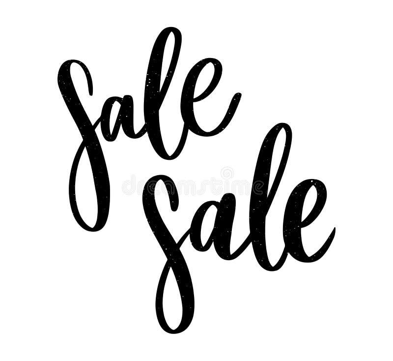 哥特式黑体字:销售,手速写了在印刷术上写字的销售 在标志上写字的手拉的销售 徽章,象,横幅,标记, 免版税库存图片