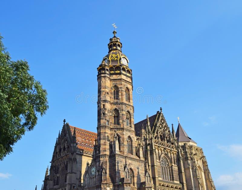 哥特式St Elisabeth大教堂在科希策,斯洛伐克 免版税库存照片