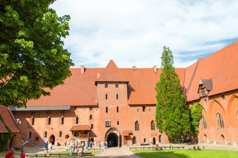 哥特式Toutenic城堡在马尔堡,波兰 免版税库存照片