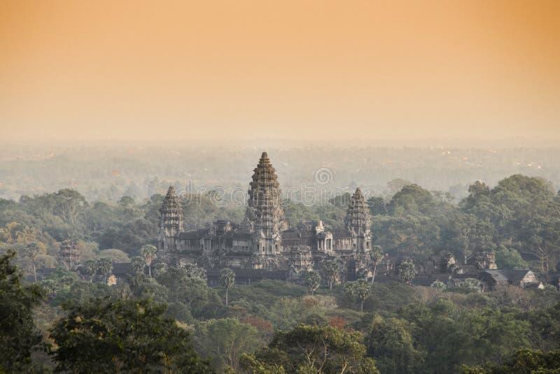 吴哥窟寺庙 angkor banteay柬埔寨湖lotuses收割siem srey寺庙 柬埔寨 库存照片