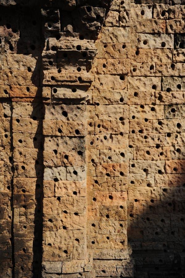 吴哥窟的墙壁 免版税库存图片