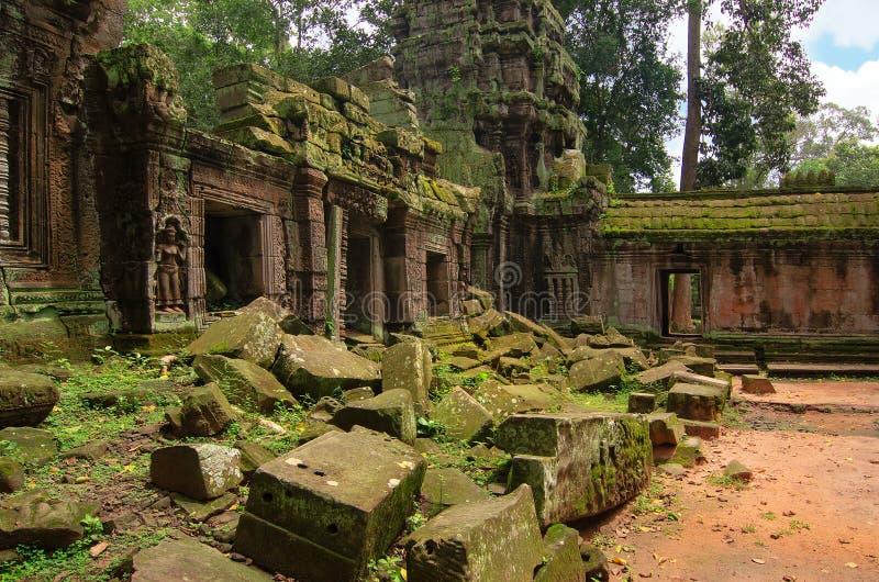 吴哥窟-巨型印度寺庙复合体在柬埔寨 图库摄影