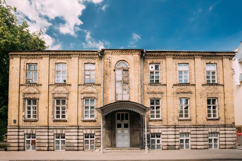 哥罗德诺,比拉罗斯 它是犹太医院的新的大厦在Sver 免版税库存照片