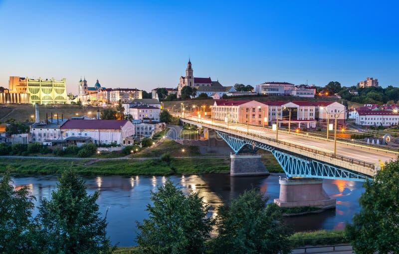 哥罗德诺,白俄罗斯都市风景  库存图片