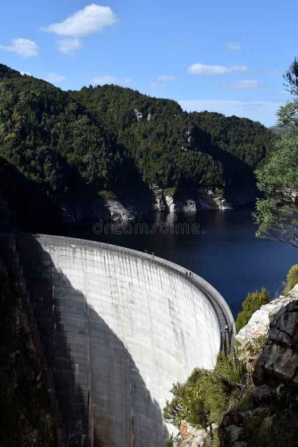 哥顿水坝, Strathgordon,塔斯马尼亚岛,澳大利亚 库存图片