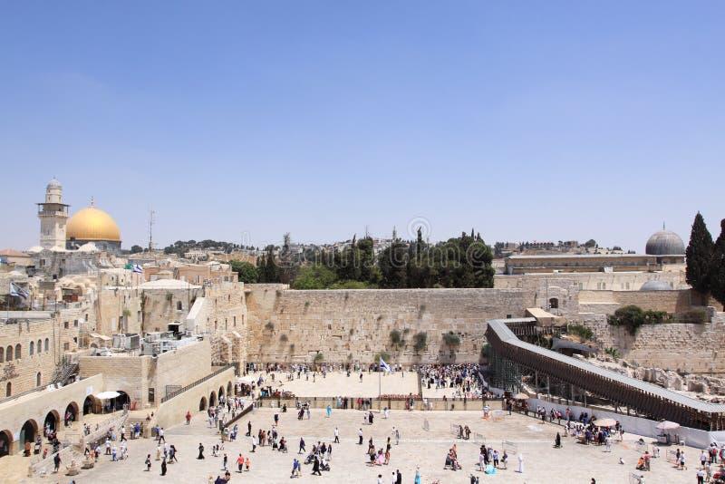 哭墙,耶路撒冷,以色列 免版税库存图片