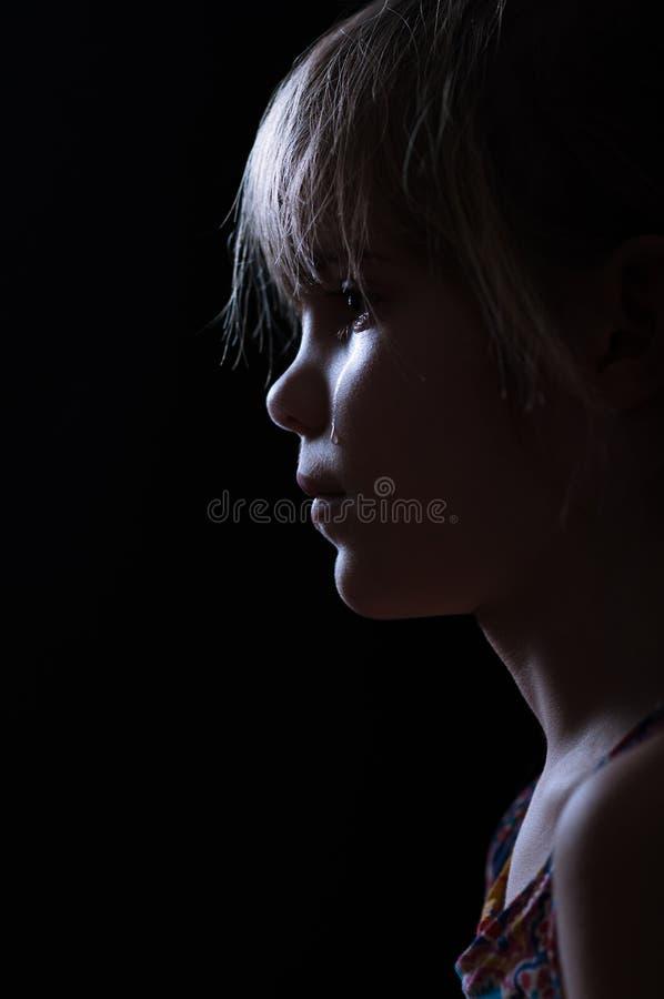 小女孩哭泣 免版税库存图片