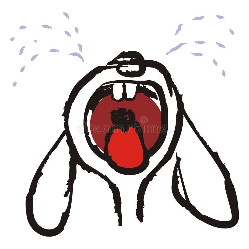 哭泣的兔子 库存例证