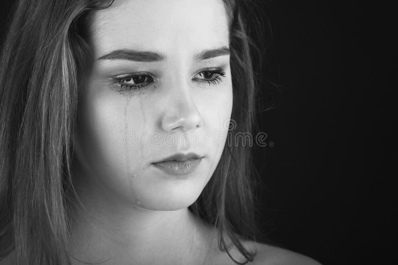 哭泣的哀伤的妇女 库存图片