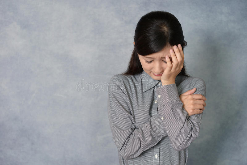 哭泣的妇女 免版税库存照片