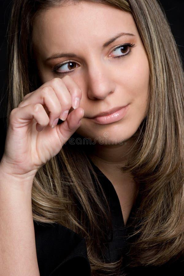 哭泣的妇女 图库摄影