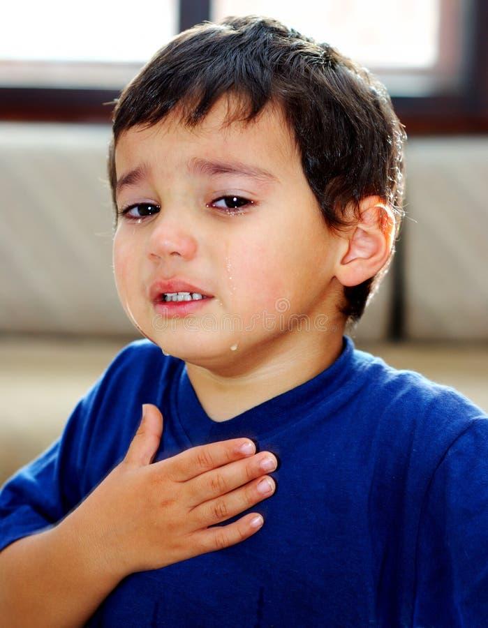 哭泣的子项 库存照片