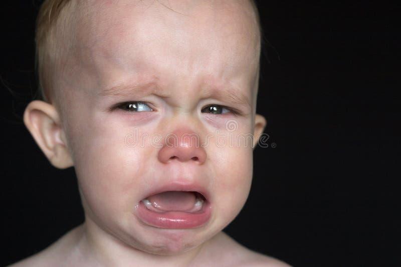 哭泣的小孩 免版税库存图片