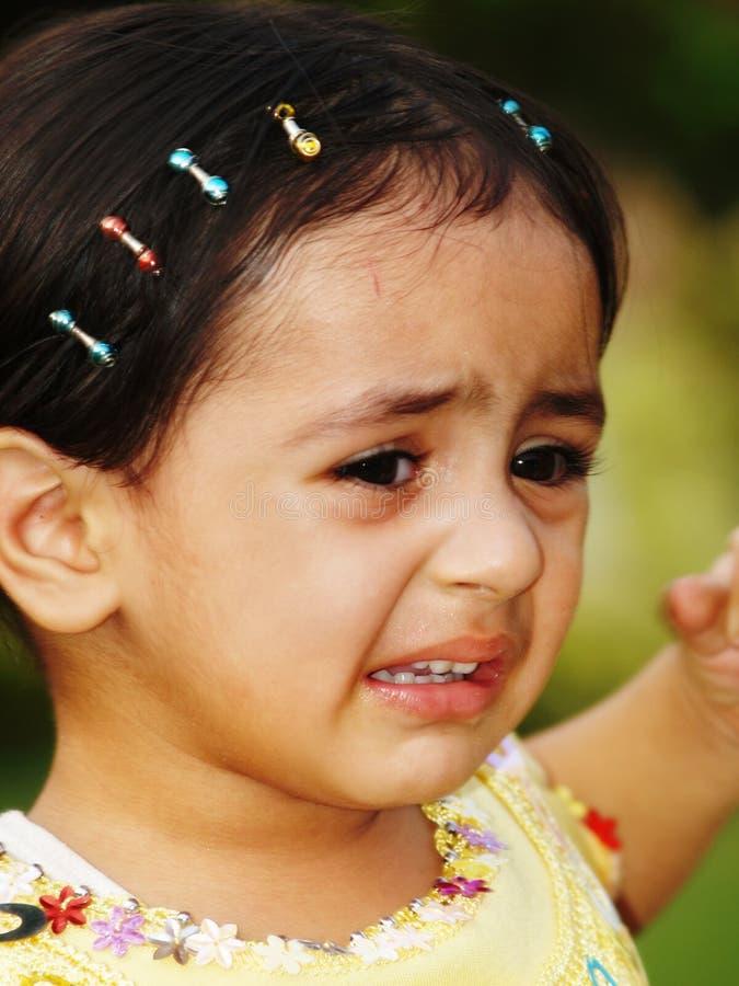 哭泣的小小孩 库存照片