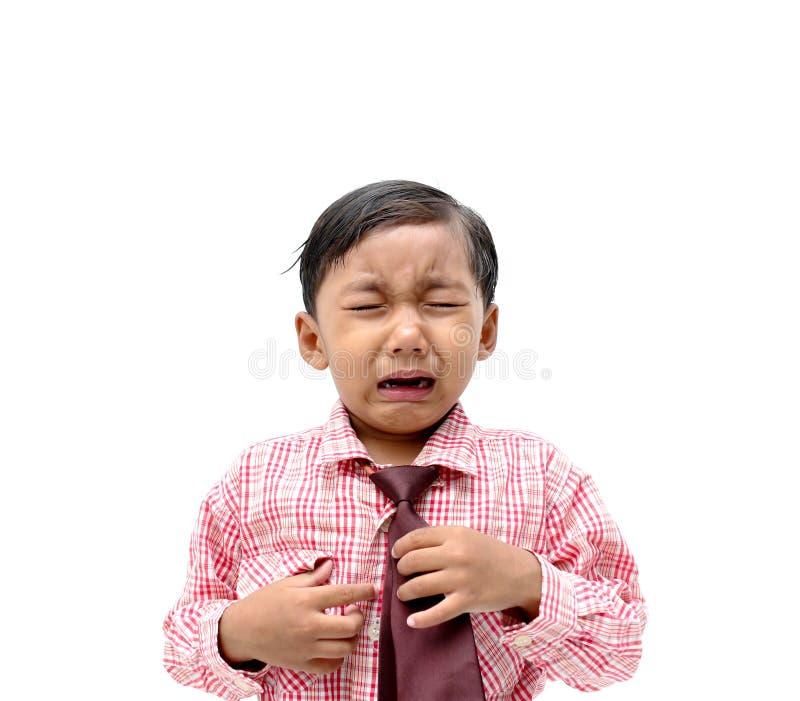 哭泣的男孩四月亮星形 图库摄影
