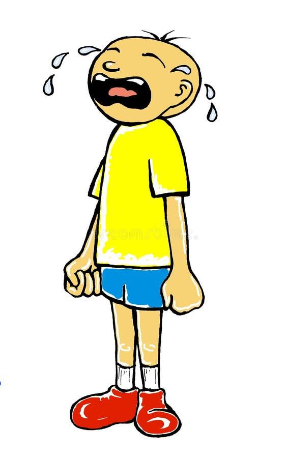 哭泣的男孩 皇族释放例证