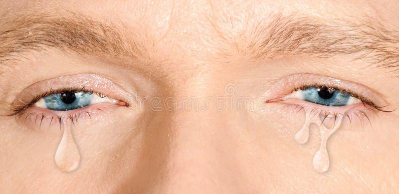 哭泣的蓝眼睛 免版税库存照片