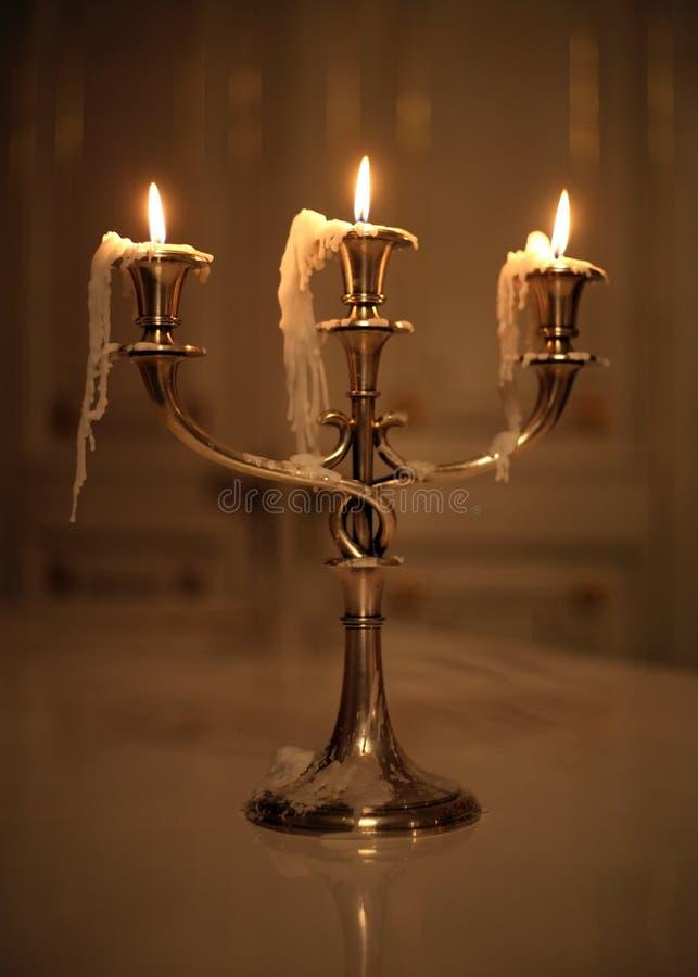 哭泣的蜡烛 免版税库存图片
