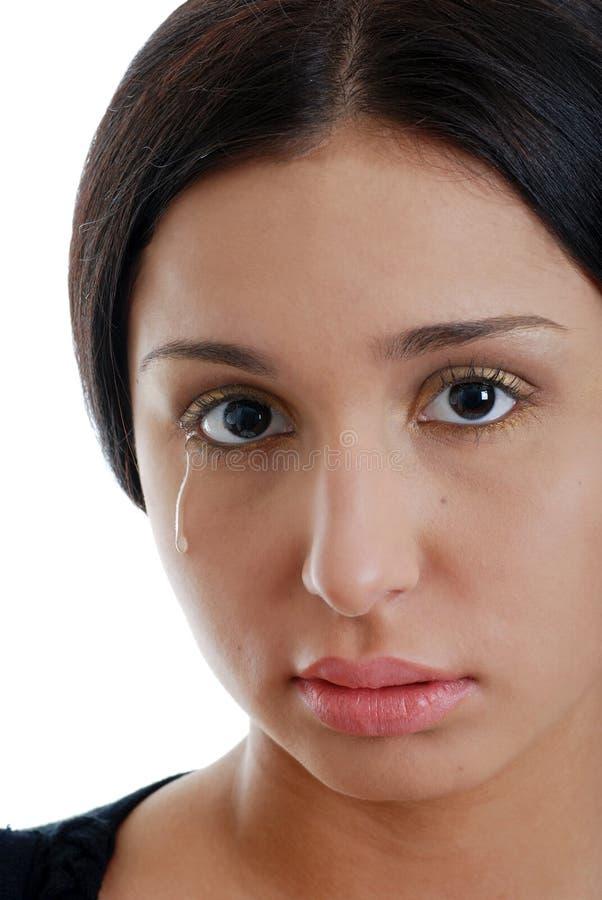 哭泣的西班牙妇女年轻人 图库摄影