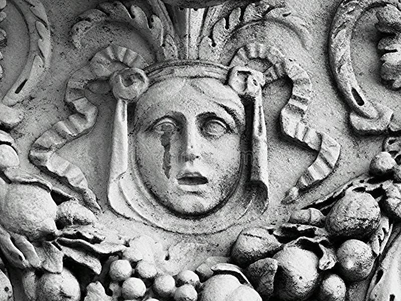 哭泣的雕塑 库存图片