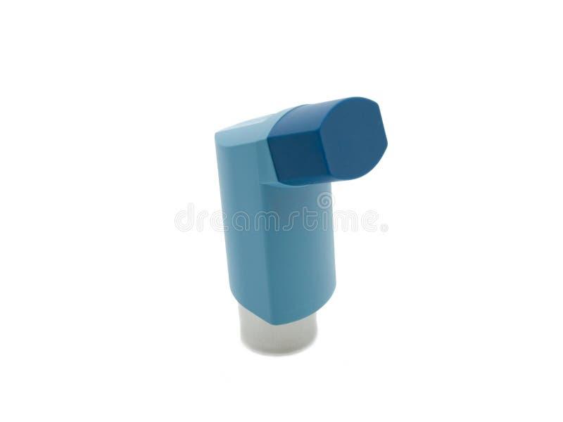 哮喘蓝色吸入器 库存图片