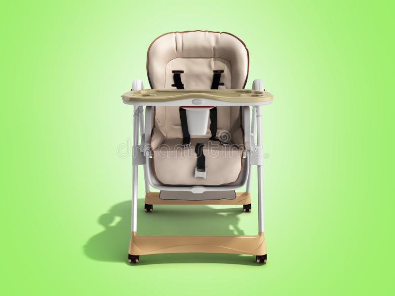 哺养的3d现代婴孩椅子回报做广告的图象  皇族释放例证