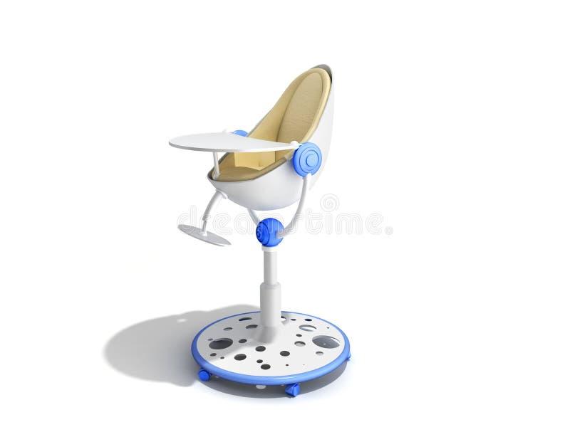 哺养的3d现代婴孩椅子回报做广告的图象  库存例证