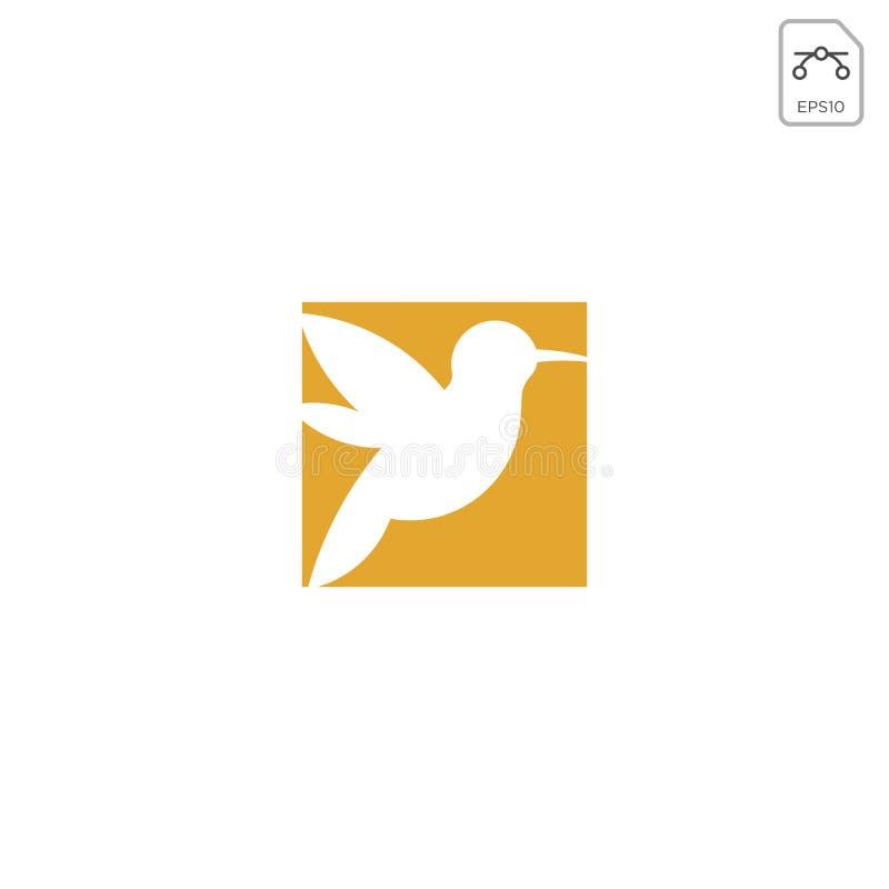 哼唱着鸟商标设计传染媒介象元素隔绝了 向量例证
