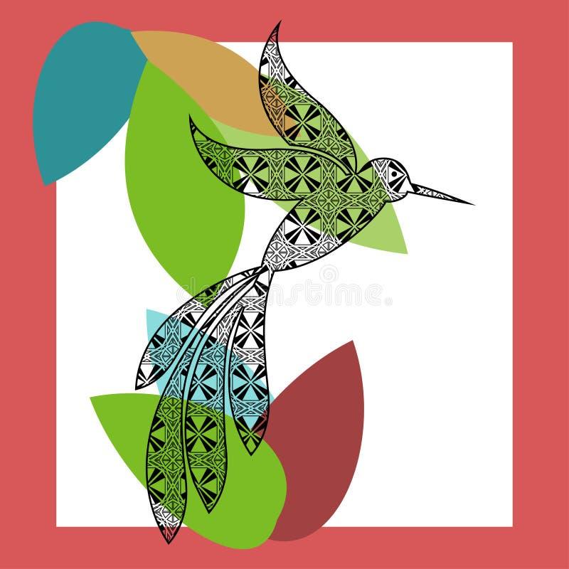 哼唱着鸟图形设计 库存例证