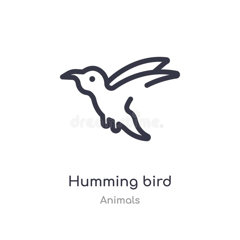 哼唱着鸟概述象 r 编辑可能的稀薄的冲程哼唱着鸟象  向量例证