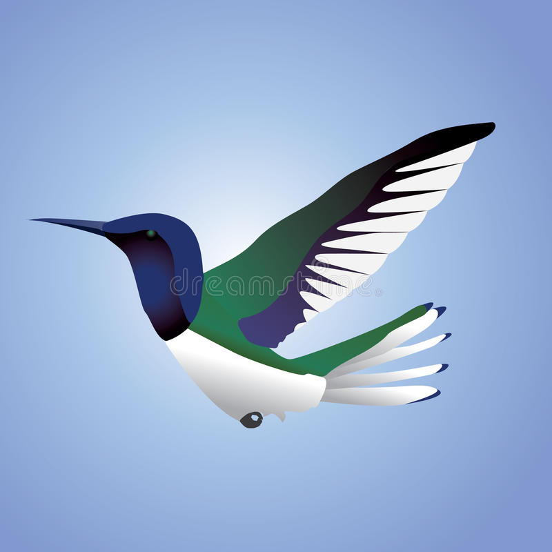 哼唱着鸟的飞行 向量例证