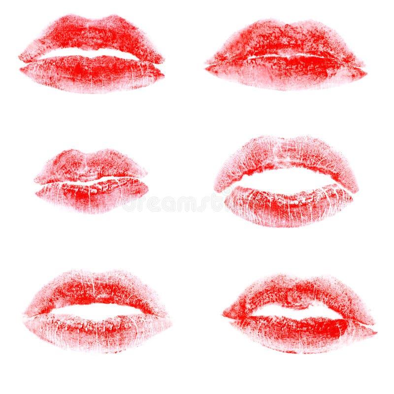 唇膏打印红色 免版税库存图片