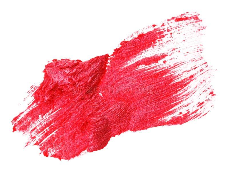 唇膏红色范例冲程 免版税库存图片
