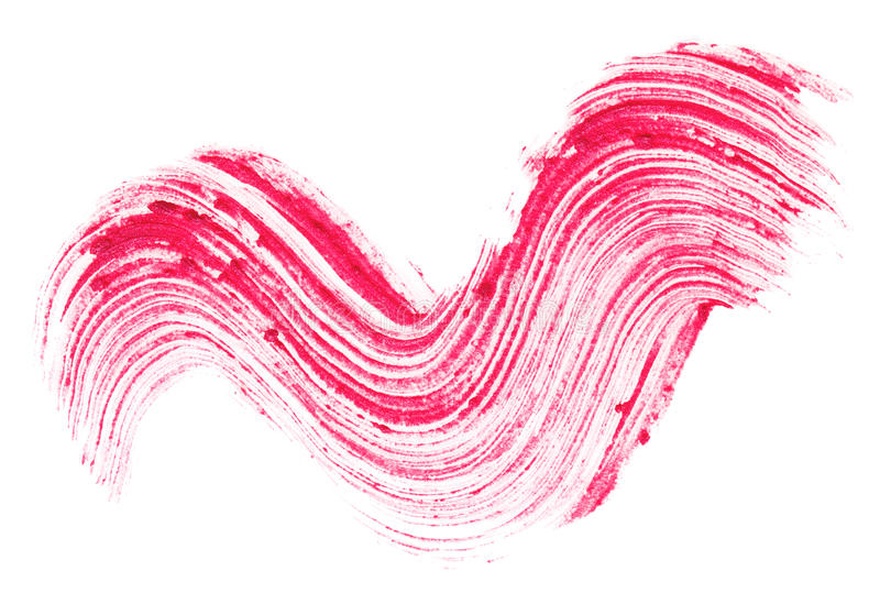 唇膏红色范例冲程 库存照片